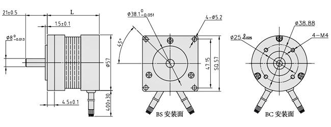 【57mm系列工业级直流无刷电机】广东深圳57mm系列级